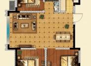 三室两厅一卫户型-3室2厅1卫-110.0㎡